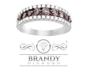 Brandy Diamond® Chocolate Brown 14K Gold Stunning Eternity Band Ring .50 Ct