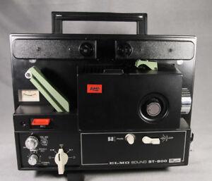 ELMO ST-800 Super 8 Movie PROJECTOR + Accessories Original Box  ANB