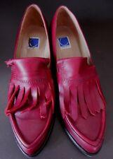 Très belles chaussures cuir rouge golf LUNDI BLEU p 39,5 Shoes scarpa leather
