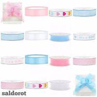 NAPPY CAKE ✿ Baby Ribbons ✿ Cut Length Satin Organza Grosgrain Bow  *Boy/Girl*