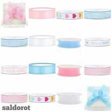 NAPPY CAKE ✿ Baby Ribbons ✿ Cut Length Satin Organza Grosgrain Bow  *Boy/Girl*