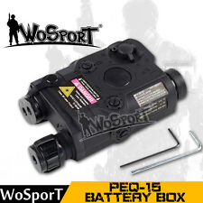 Tactical Military Outdoor Hunting Airsoft Helmet PEQ 15 Battery Case Black Box