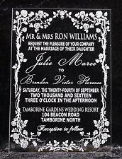 Luxury Engraved Acrylic Wedding Invitations