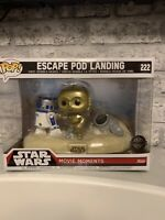 Funko Pop Star Wars Escape Pod Landing C3PO and R2D2 Walmart Exclusive #222