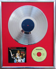 "Madonna DON 'T CRY FOR infissi CD COVER +12"" VINYL d'oro/platino disco"