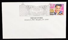 1993 First Day Issue Elvis Presley Memphis Tn Canceled Cover
