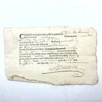 1700's Document Government Legal Paper Record Authentic Manuscript Antique