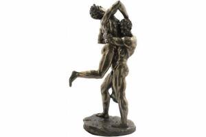 Hercules with Antaeus Cold Cast Bronze Statue / Sculpture 27.5cm / 10.82 inches