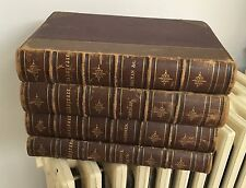 The Complete Works of Shakespeare Illustrated Four Volume Leather Bound Set 1879