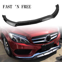 Front Bumper Spoiler Splitter Lip For 2015-2018 Benz C-Class W205 Sport KA