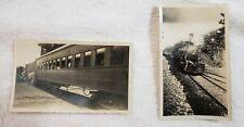2 Vintage B/W Photos Locomotive Engine First Class Car San Jose COSTA RICA