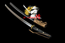 Battle Ready Quenched 9260 Spring Steel  Full-Tang Tactical Katana New How Sale