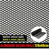 Black Aluminium Rhombus Style Car Racing Vent Tuning Grille Net Mesh 40x120cm US