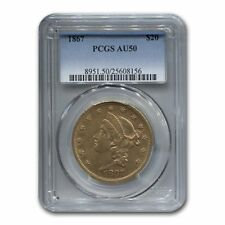 1867 $20 Liberty Gold Double Eagle AU-50 PCGS