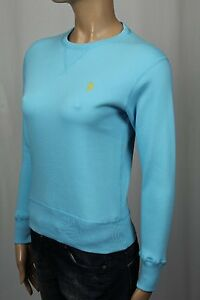 Ralph Lauren Sport Blau Pullover Sweatshirt Gelb Pony Nwt