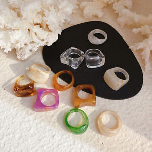 Women's Vintage Retro Resin Ring Acrylic Ring Party Jewelry Resin Acrylic Ring