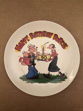 1979 Happy Birthday Popeye Plate 50Th Birthday Celebration Plate No. 4104