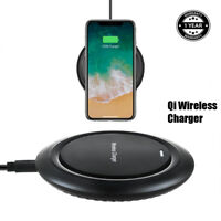 Black Qi Wireless Charger Charging Pad for Motorola Turbo Droid 2 Moto Z Phone