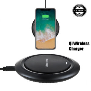 Black Qi Wireless Charger Charging Pad for Samsung Galaxy S7 ACTIVE G891A Phone