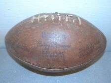 Vintage Wilson Biggie Munn Leather Football #60-5528 poor condition FREE SHIPPNG