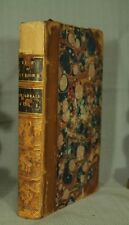 antique old leather book The Life of Laurence Sterne 1864 Vol I