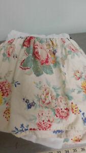Vintage Ralph Lauren Elisa Twin Bedskirt Dust Ruffle-Red, White Blue Florals