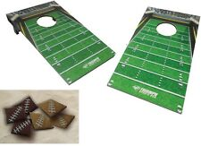 Football Bean Bag Toss Cornhole Lawn Backyard Tailgating Game Parties Barbeque
