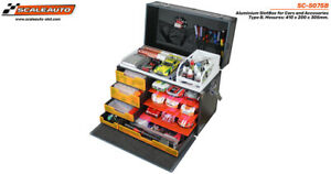 * SC-5075B SCALEAUTO ALUMINIUM CARRY CASE FOR SLOT CARS AND ACCESSORIES