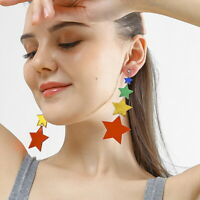 Women Boho Dangle Drop Stud Earring Acrylic Resin Star Earrings Jewelry Gift