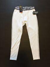 Under Armour Men's Compression Pants White Leggings 1257474 Size XL