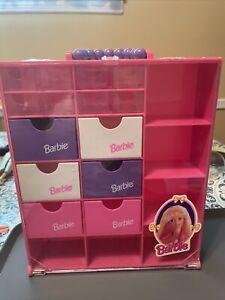 Barbie plastic Clothing storage box w compartments 90s