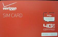 VERIZON WIRELESS MICRO 4G LTE 3ff SIM CARD SAMSUNG S3 S4 S5 (PREPAID & POSTPAID)