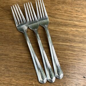 """Lenox 18/10 ARCHWAY Stainless Salad Forks 7 1/4"""" Set of 3 Good Used Condition"""