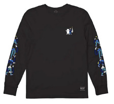 Grizzly Diamond Supply Mens L/S T-Shirt LUCAS STACKED Black Streetwear S-XL $40