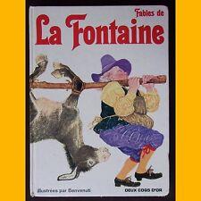FABLES DE LA FONTAINE illustrées par Benvenuti 1982
