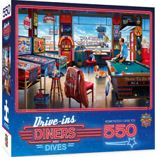 Masterpieces Drive-ins Diners & Dives POCKETS & POOL CLUB 550 jigsaw puzzle NIB