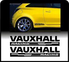 Per Vauxhall 2 x RACING controlli BODY PANEL-VINILE Auto Adesivo Decalcomania CORSA ASTRA