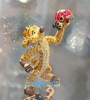 NEW DISNEY Parks Jeweled TIMON LION KING by Arribas Swarovski® Crystals Figure