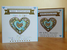 Anniversary card personalised ANNIVERSARY greetings card special heart card