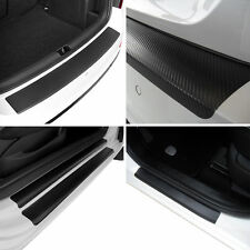 Rear Bumper + Door Sill Protectors of Carbon Film for Seat Leon 5F1