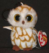 TY BEANIE BOOS - SWOOPS the OWL KEY CLIP - MINT with MINT TAGS