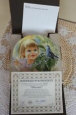 Knowles Collector Plate - Frances Hook Legacy Series - Discovery - Coa & Box