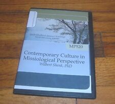 Contemporary Culture in Missiological Perspective by Wilbert Shenk - MP3 CD
