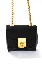 Sondra Roberts Womens Single Strap Pushlock Mini Shoulder Handbag Black Nylon