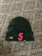 Supreme FW19 S Logo Box Logo Beanie Dark Green Big Logo Rare Color Camp Cap Hat