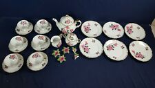 26 Piece Edelstein Bavaria Maria-Theresia Rose Tea Pot Plate Cup Saucer Sugar