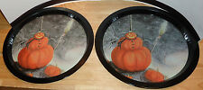 THE NIGHTMARE BEFORE CHRISTMAS 2 TIN PLATE/PLATES PUMPKIN PATCH JACK SALLY