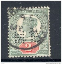 GB, Victoria  2d  with perfin   M B   (D)