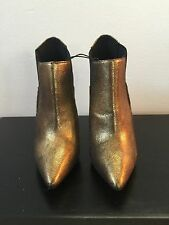 Copper Shiny Womens Ankle Boots Heels Forever 21 New with Tags No box Size 6