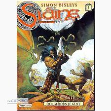 Simon Bisleys: Slaine Band 1 Der gehörnte Gott FANTASY Barbaren Comic P. Mills